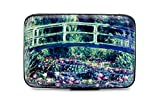 Monet Bridge Lilies RFID Secure Data Theft Protection Credit Card Armored Wallet