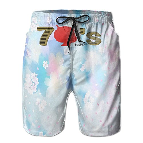 1970's Mens Shorts (EveJoy I'm A 70s Baby Born In The 1970's Men's Quick Dry Swim 3D colorful Beach Shorts)