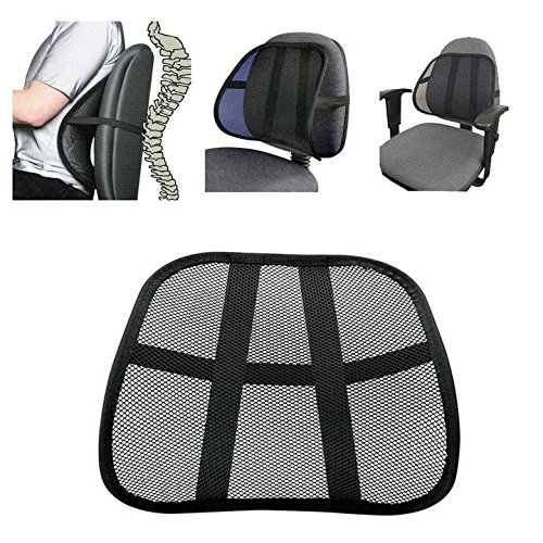 Danyoun Multi-use Cool Vent Mesh Back Lumber Support, Massage Back Mesh Lumbar Support Cushion, Relieve Back Pain Waist Support Pad Mat for Office Chair, Car Seat, and Other