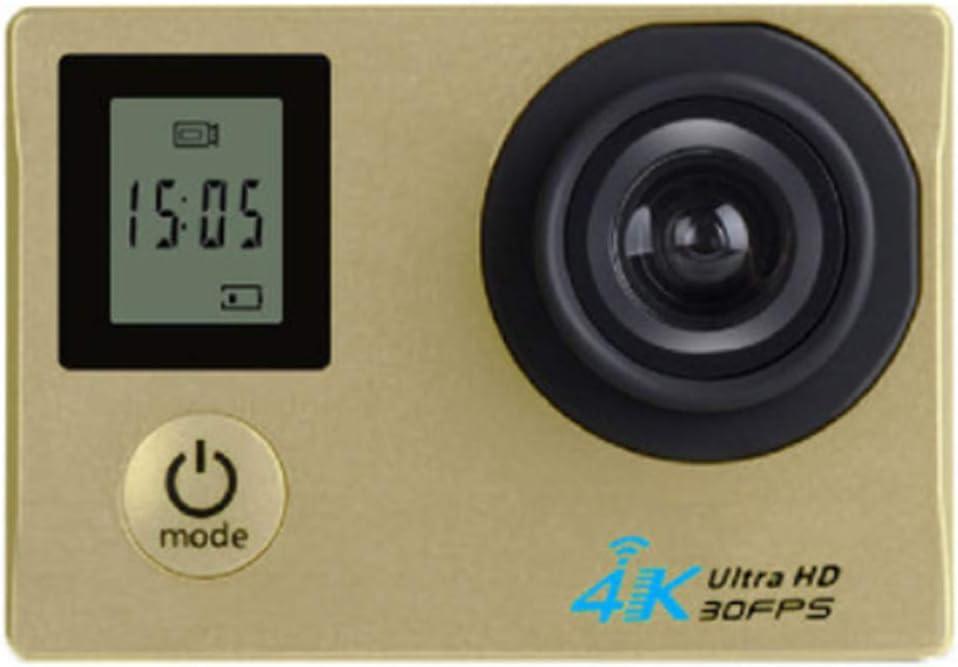 XRQ Cámara Deportiva HD Pantalla Dual 4K HD Deportes de Buceo al Aire Libre Cámara DV cámara integrada máquina 8 Millones de píxeles Material ABS Pantalla LCD de 2.0 Pulgadas,Oro: Amazon.es: Hogar