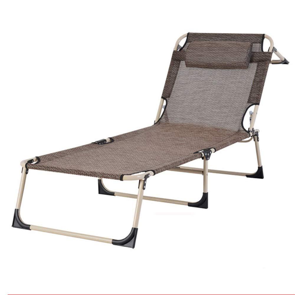 Caishuirong Klappbett Stoff verdicken tragbare Campingbett Klappbett Erwachsene Kinder Röhren Seitentasche Sonnenliege Mehrzweck Hause Klappbett Geeignet für Erwachsene, die viel Platz mögen.