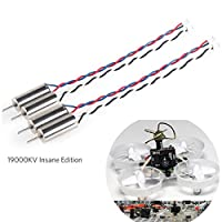 Crazepony 4pcs 6x15mm Motor (Velocidad: Insane) 19000KV para Blade Inductrix Tiny Whoop Micro JST 1.25 Enchufe con anillos de goma