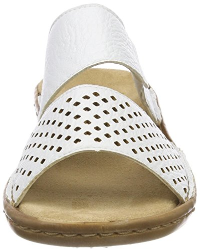 608k8 Rieker Femme Bronze Weiss Blanc Mules AqzpxzRC