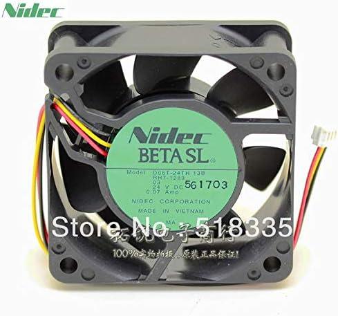 For Nidec D06T-24TH 6cm 60mm 662.5CM 606025MM 24V 0.07A 6025 server inverter pc case cooling fan