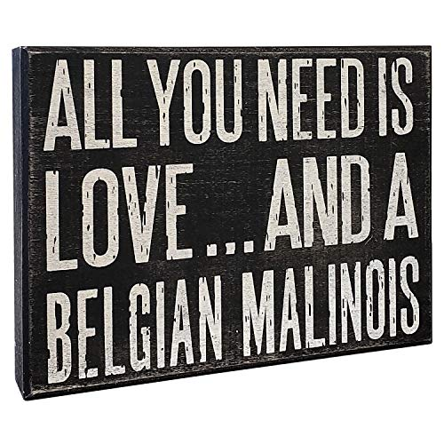 JennyGems - All You Need is Love and a Belgian Malinois - Wooden Sign, Beligian Malinois Moms, Accessories, Gifts, Dogs