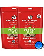 Stella & Chewy's Freeze Dried Raw Dinner Patties Dog Food 2 Pack (28oz Total) Bundle Including Hotspot Pet Travel Bowl - Made in The U.S.A