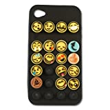 Emoji Icons iPhone 4/4S Black Cell Phone Case