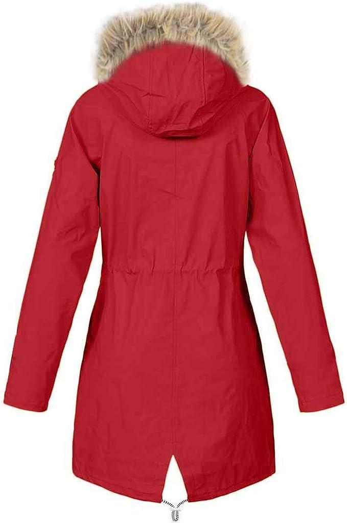 SoonerQuicker Winter Jackets Women Plus Size Warm Casual Ladies Parka Coat Waterproof Hooded Winproof Windbreaker Jacket Outerwear