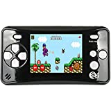 X-JOYKIDS QS-4 Handheld Game Player for Kids,Portable Arcade Entertainment Gaming System Retro FC Video Game Player 2.5'' LCD Built-in 182 Classic Games,Birthday Present for Children-Black
