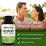 1000 mg Horny Goat Weed Supplement for Drive and