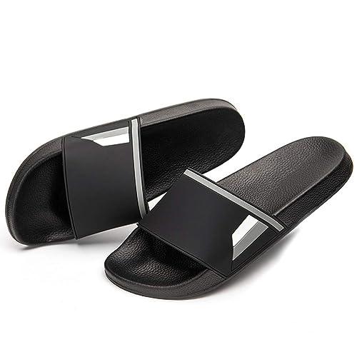 3c53fb554 Ranberone Shower Slides for Men and Women Anti-Slip Bathroom Shoes Unisex  Slide Sandals
