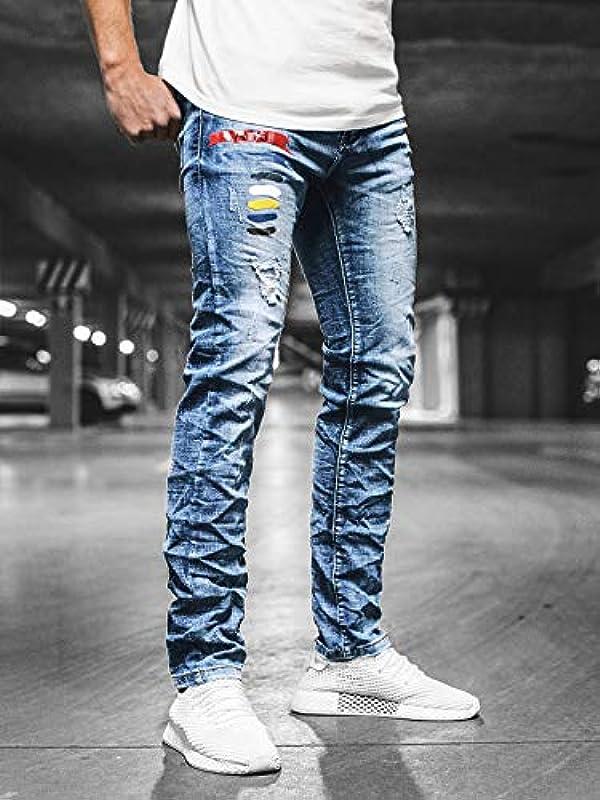 OZONEE męskie dżinsy dżinsy dżinsy skinny dżinsy rurki rowerzysta stretch regularne Slim Fit Straight dżinsy sportowe dżinsy męskie dżinsy dżinsy dżinsy dżinsy d&