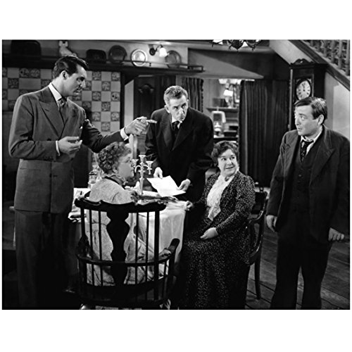 Cary Grant Pointing at Dinner Table with Others 8 x 10 Inch Photo Charade Dinner