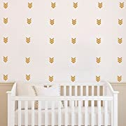 48 pcs / Pack Mordern DIYTribal Arrow Pattern Set Wall Decal -Geometric Arrow Kids Nursery Children Room Decor Murals -Home Decor Sticker Adesivo (Gold)