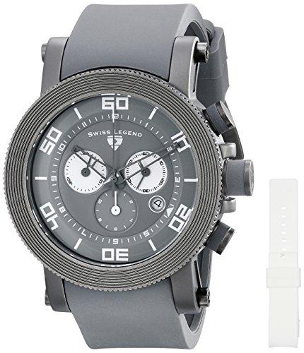 Swiss Legend Men's 30465-GM-014 Cyclone Analog Display Swiss Quartz Grey - Men Legend Watches Swiss