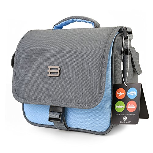 BAGSMART Digital SLR/DSLR Compact Camera Shoulder Bag, Travel SLR Gadget Bag, Light Blue (1 Compact Digital Camera Bag)