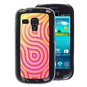 A-type Arte & diseño plástico duro Fundas Cover Cubre Hard Case Cover para Samsung Galaxy S3 MINI 8190 (NOT S3) (Lines Psychedelic Happy Hip)