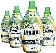 Downy Suavizante de Telas Aroma Pureza Silvestre 4 Unidades de 1.4L, Total 5.6L