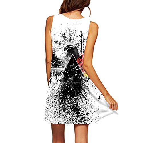 Felz 3d Blanco11 Camiseta Corto Floral Grande Con Mangas Sin Para Mujer Estampado Vestido De mini Mujer Talla En Vestidos rarBH