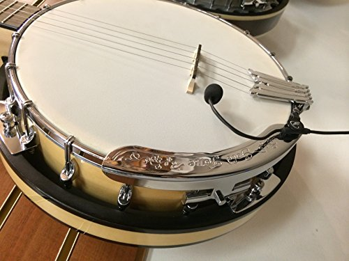 'THE FEATHER' BANJO PICKUP with FLEXIBLE MICRO-GOOSE NECK by Myers Pickups ~ See it in ACTION! Copy and paste: myerspickups.com