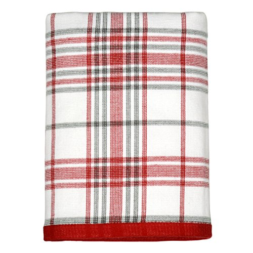 Peri Home Classic Plaid Holiday 100% Cotton Hand Towel, 15