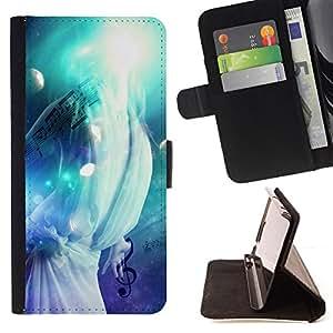 - Music Splash - - Monedero PU titular de la tarjeta de cr????dito de cuero cubierta de la caja de la bolsa FOR Samsung Galaxy S5 Mini, SM-G800 RetroCandy