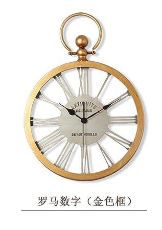 OOFYHOME LUOER Wanduhr LED Uhr American Country Uhr Mode Art Uhr Digitaluhr  Stille Nicht Tickende
