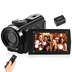 Flashandfocus.com 51foGPz%2B04L._SS300_ IEBRT Video Camera Camcorder, Digital YouTube Vlogging Camera Recorder Full HD 1080P 15FPS 24MP 3.0 Inch 270 Degree…