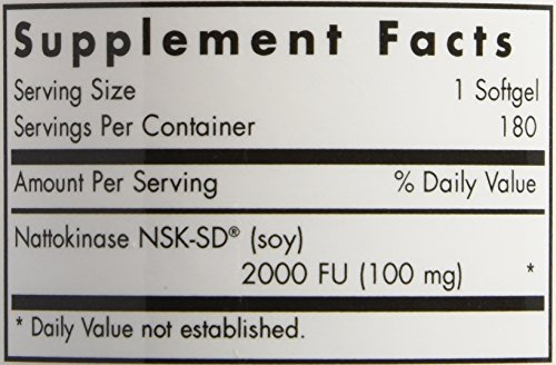 Allergy Research Group Nattokinase -- 100 mg - 180 Softgels by Allergy Research Group (Image #2)'