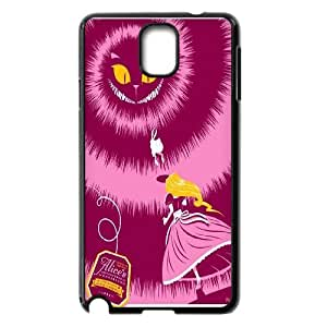 [QiongMai Phone Case] For Samsung Galaxy NOTE3 Case Cover -Alice and Cheshire Cat Pattern-IKAI0446574