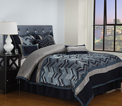 Nanshing America LEXI7-C.K. Lexi 7 Piece Comforter Set, N...