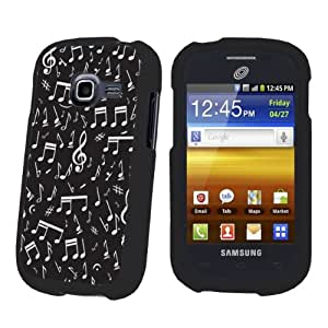 Samsung Galaxy Discover S730G Black Protection Case By SkinGuardz - Music Note Black