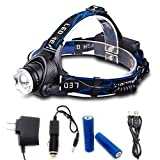 GWH Zoomable T6 LED Headlamp 1000 Lumen Rechargeable Headlight Camping Lamp Bicycle Head Light for Outdoor Biking Hiking Fishing Hunting For Sale