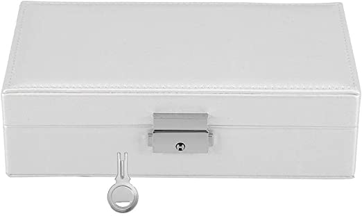 Alinory Jewelry Box, Elegante PU Cuero Color sólido Joyero Caja ...