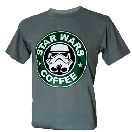 Immortal Men's Star Wars Coffee Stormtrooper Funny T-Shirt Grey X-Large