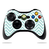 Cheap Protective Vinyl Skin Decal Cover for Microsoft Xbox 360 Controller wrap sticker skins Aqua Chevron