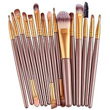Changeshopping 15 pcs/Sets Eye Shadow Foundation Eyebrow Lip Brush Makeup Brushes Tool