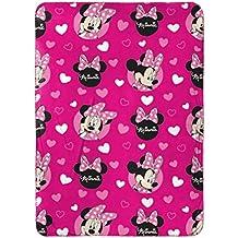 Disney Minnie Mouse Plush Travel Blanket, Pink Throw