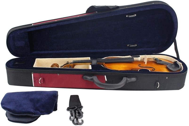 Estuche de violín de tamaño completo Bolsa de almacenamiento de estuche de violín liviano Forma triangular Estuche rígido para violín profesional con asa Bolsillo con cremallera Mochila Correas Tela O: Amazon.es: Hogar