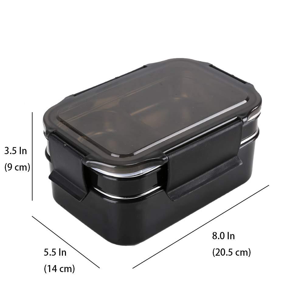 Verde Scatole bento Isolamento a Tenuta stagna Senza BPA HUAFA Lunch Box 1300ml Bento Box