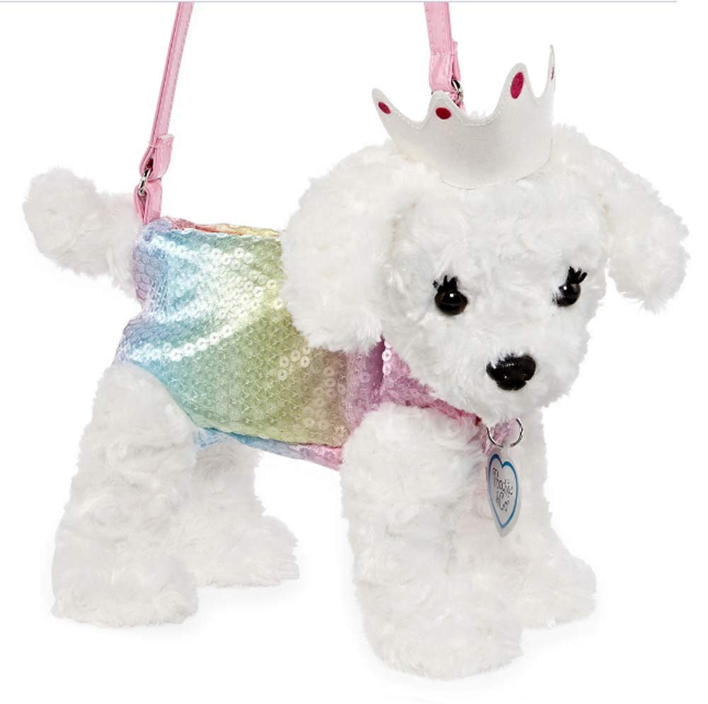 Poochie and Co Plush Purse- Mindy The Maltese with Crown by Pooch and Co (Image #2)