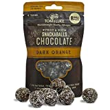 Tom & Luke Healthy Snacks (6 Packs x 8 Balls) - Delicious Dark Orange Chocolate Snack Balls for Adults - Vegan, Gluten Free, Dairy Free & No Added Refined Sugar - Whole Food Fruit & Nut Energy Boost