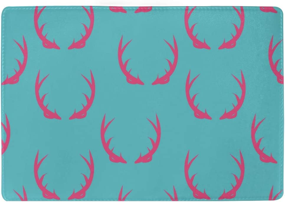 Color Passport Cover Beautiful Anime Antlers Stylish Pu Leather Travel Accessories Men Passport Case For Women Men