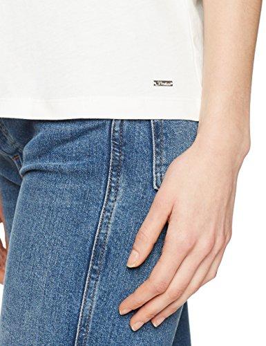 Tom Tailor Denim 10553810971, T-Shirt Donna, Avorio (Off White 8005), 40 (Taglia Produttore: Large)