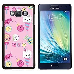 YiPhone /// Prima de resorte delgada de la cubierta del caso de Shell Armor - helado de caramelo dulces lollipop rosado - Samsung Galaxy A7 A7000