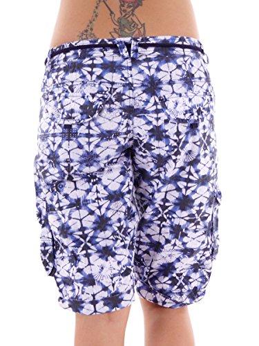 Brunotti Walkshort Freizeitshort kurze Hose Galbero blau Kordel Muster Gr. M 161224605