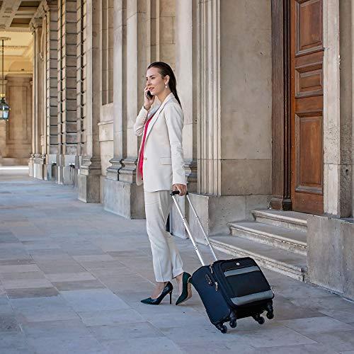 Rolling Laptop Case, COOFIT Nylon Rolling Laptop Briefcase Roller Laptop Bag by COOFIT (Image #6)