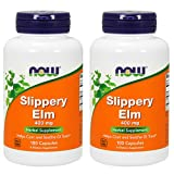 Cheap Now Foods Slippery Elm 400mg, Capsules, 100-Count (Pack of 2)