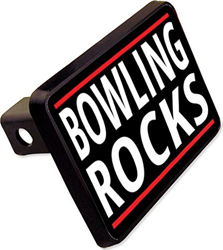 BOWLING ROCKS Trailer Hitch Cover Plug Funny Novelty cheapyardsigns