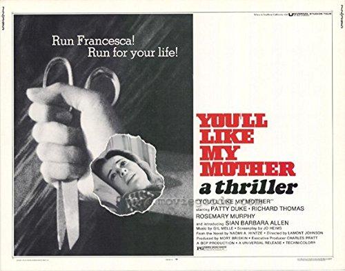 You'll Like My Dam POSTER Movie (1972) Style A 11 x 14 Inches - 28cm x 36cm (Patty Duke)(Rosemary Murphy)(Richard Thomas)(Sian Barbara Allen)